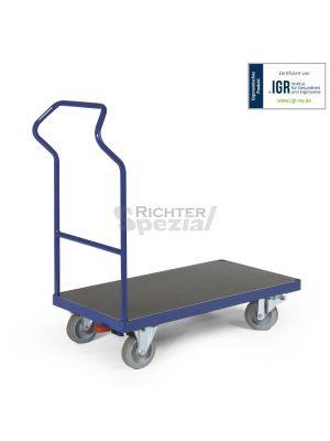 Plattformwagen mit ergonomischem Schiebegriff, ausgezeichnet mit IGR-Prüfsiegel