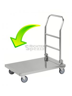 Edelstahlwagen, ideal zum Einsatz in Küchen oder Bäckereien