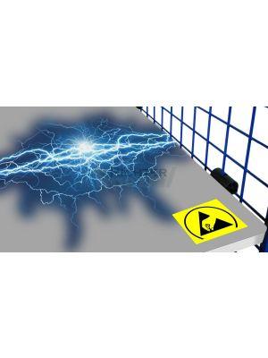 Elektrisch leitfähiger Einlegeboden für ESD-Gitterwandwagen