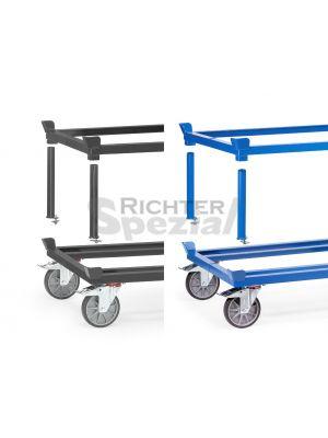Aufsetzrahmen für Fahrgestell, Größe 1010 mm x 810 mm in Höhen 140, 270 oder 370 mm