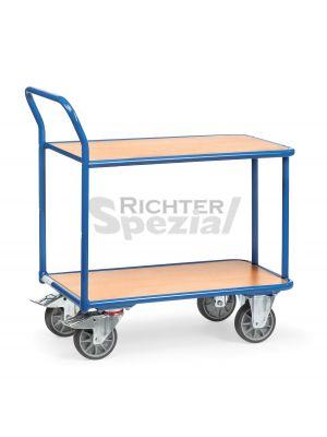 Magazinwagen mit 400 kg Traglast und ergonomischem Schiebegriff