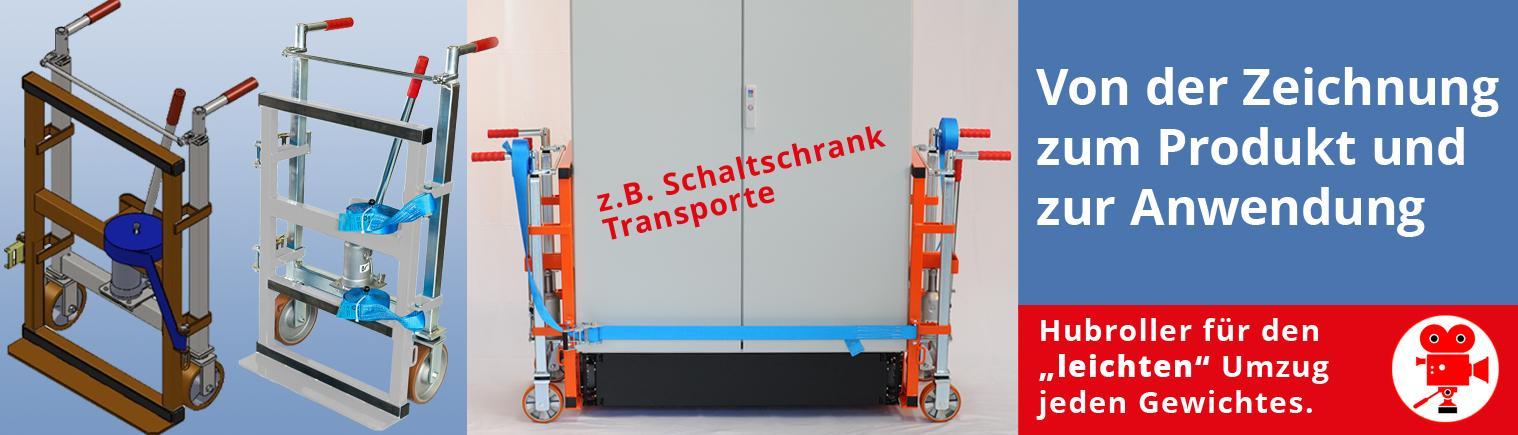 Schaltschrank-Heberoller - hydraulisch bis 5 Tonnen Last anheben und SICHER verfahren