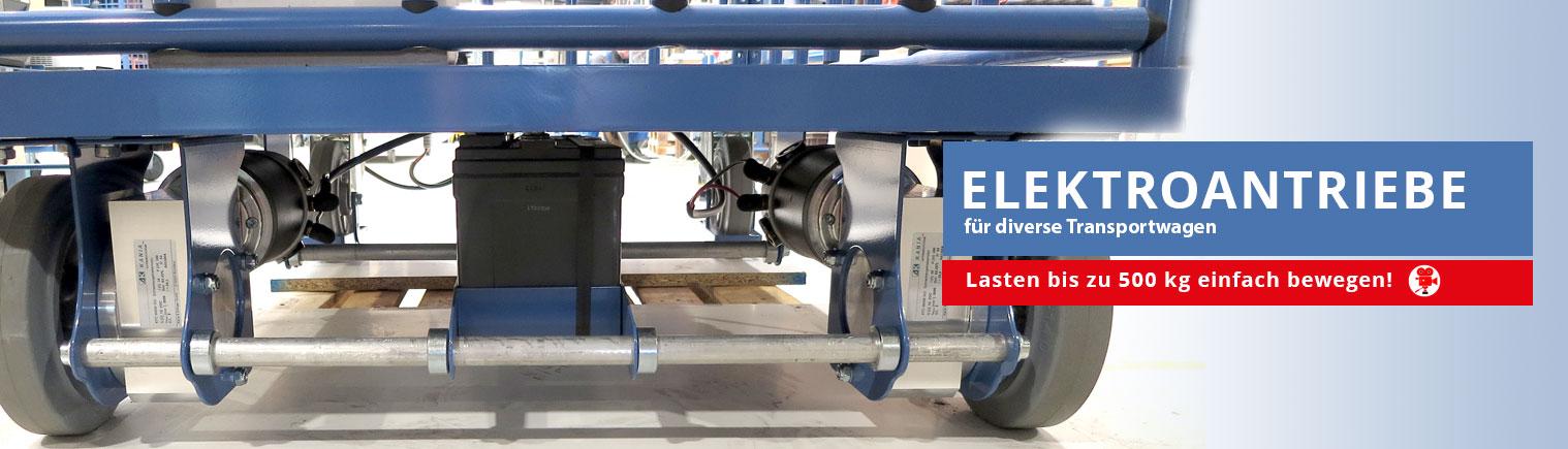 Elektrofahrantriebe für Transportwagen