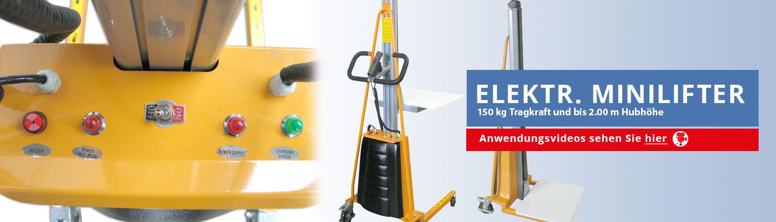elektrische Minilifter von 100 bis 400 kg Traglast