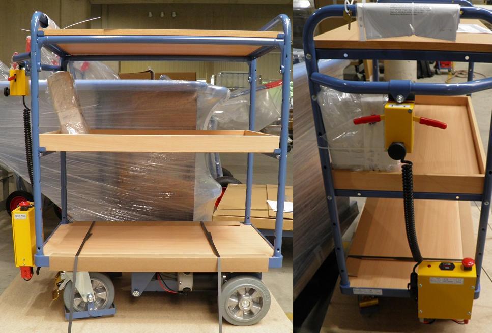 Bürowagen mit Elektroantrieb und 3 Tableaus
