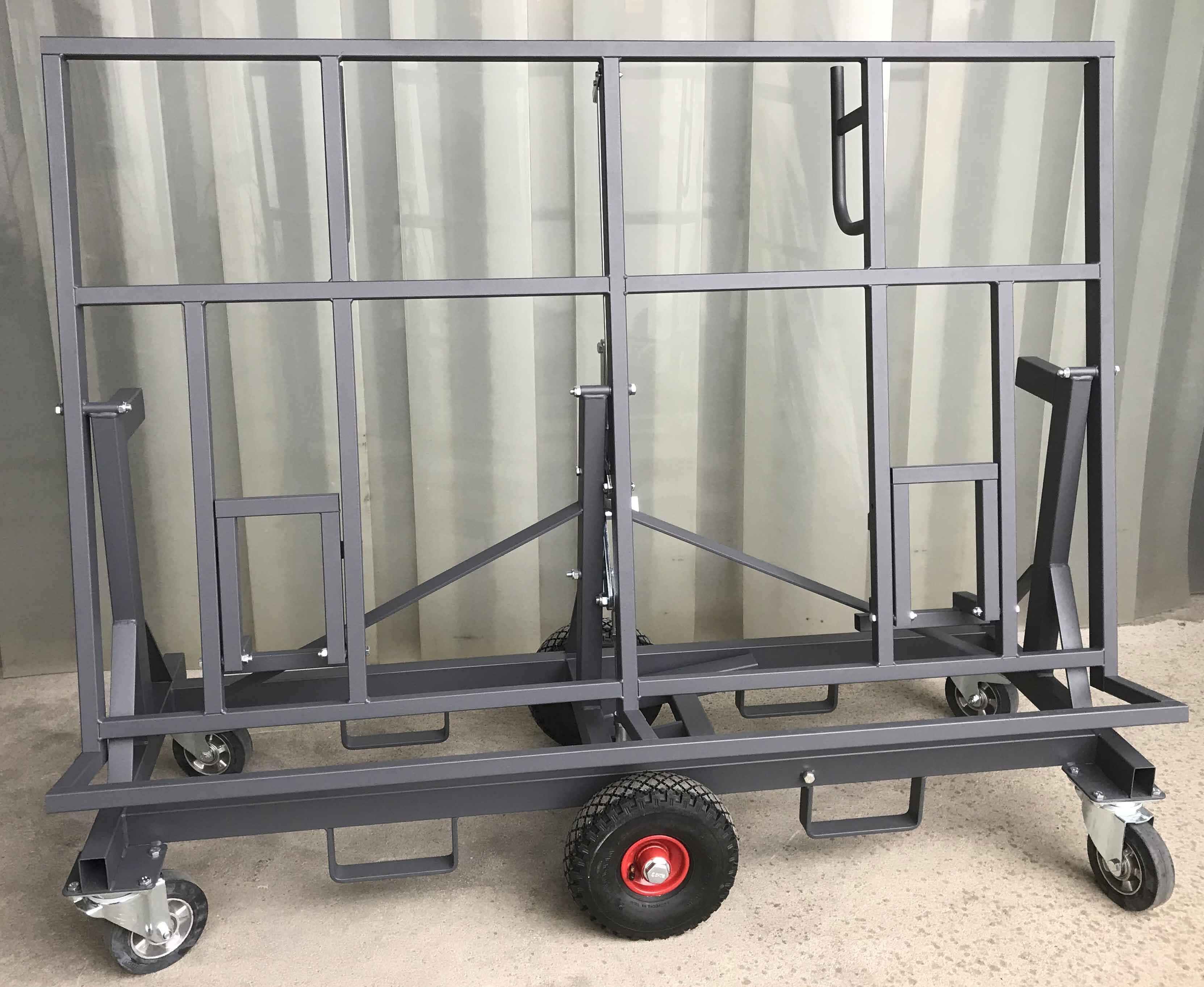 Plattenwagen mit neigbarer Ladefläche, Traglast 500 kg, Arbeitshöhe 900 mm, RAL 7016 anthrazitgrau pulverbeschichtet (statt blau) #7374