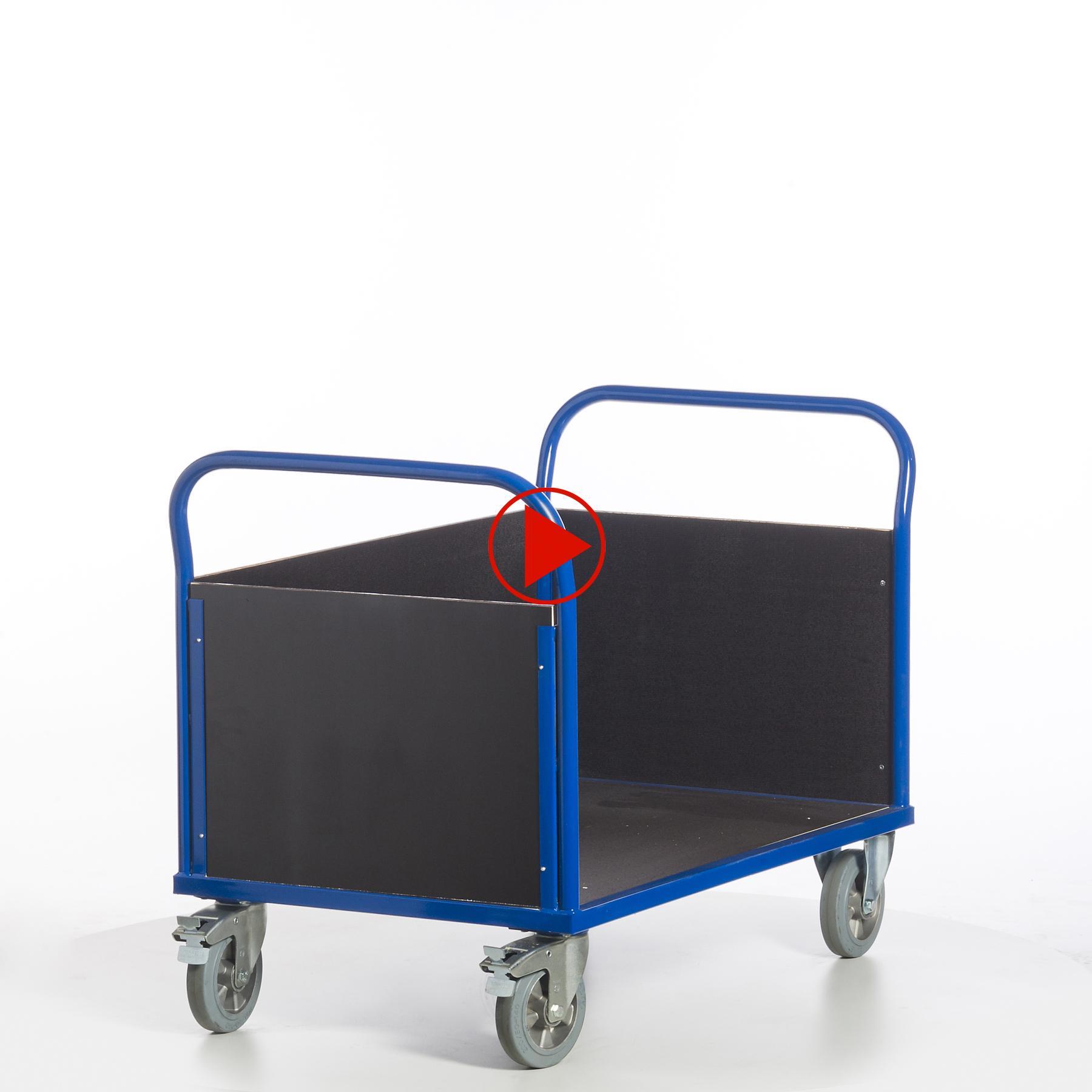 Rundumansicht für Transportwagen mit drei Wänden