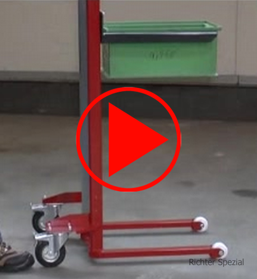 Video mit technischen Details eines Materialhebers