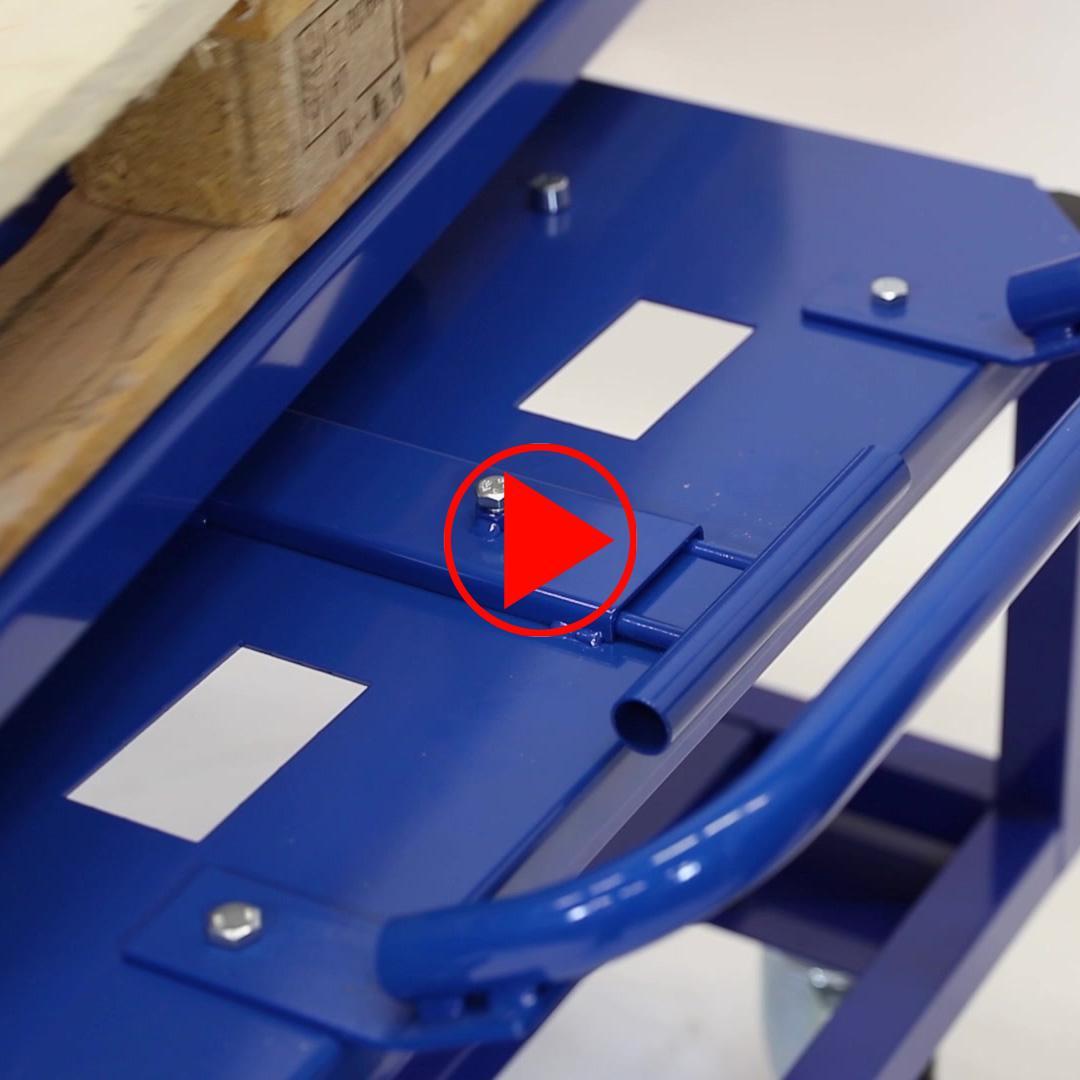 Anwendungsvideo wie der Drehteller durch ziehen des Griffes einfach und sicher gelöst werden kann