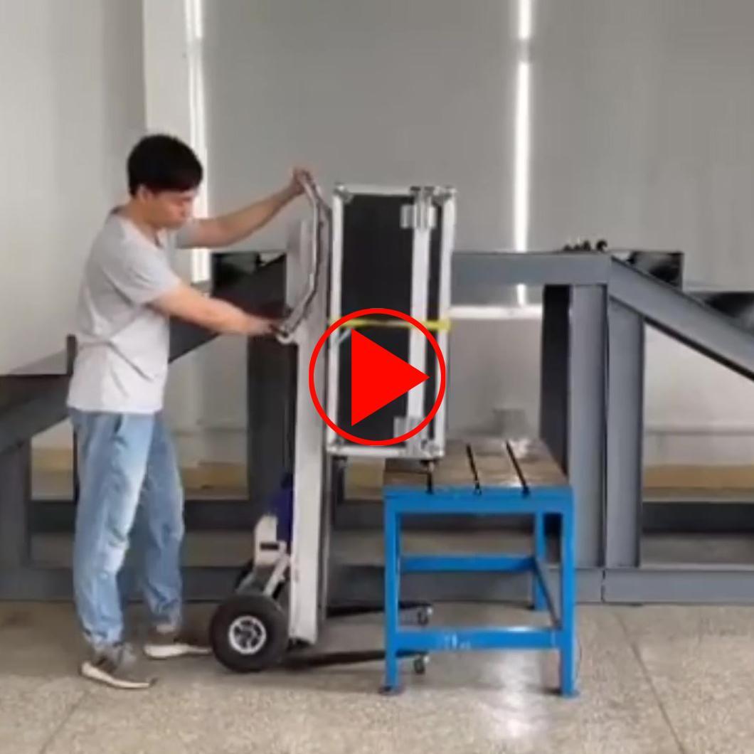 Anwendungsvideo des elektrischen Treppensteigers mit Hebeplattform