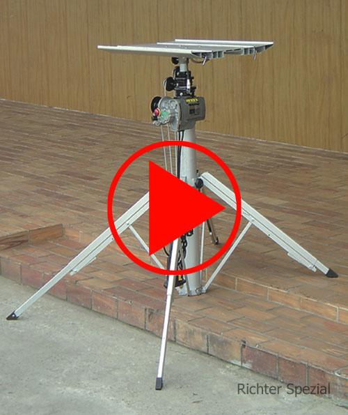 Vergleichsvideo für den E-Lifter mit manuellen Heben der Artikel oder einfachem, elektrischen Heben der Last
