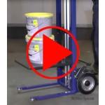 Video, Anwendung einer Windenkarre am Beipiel einer Lastaufnahme mit Plattform