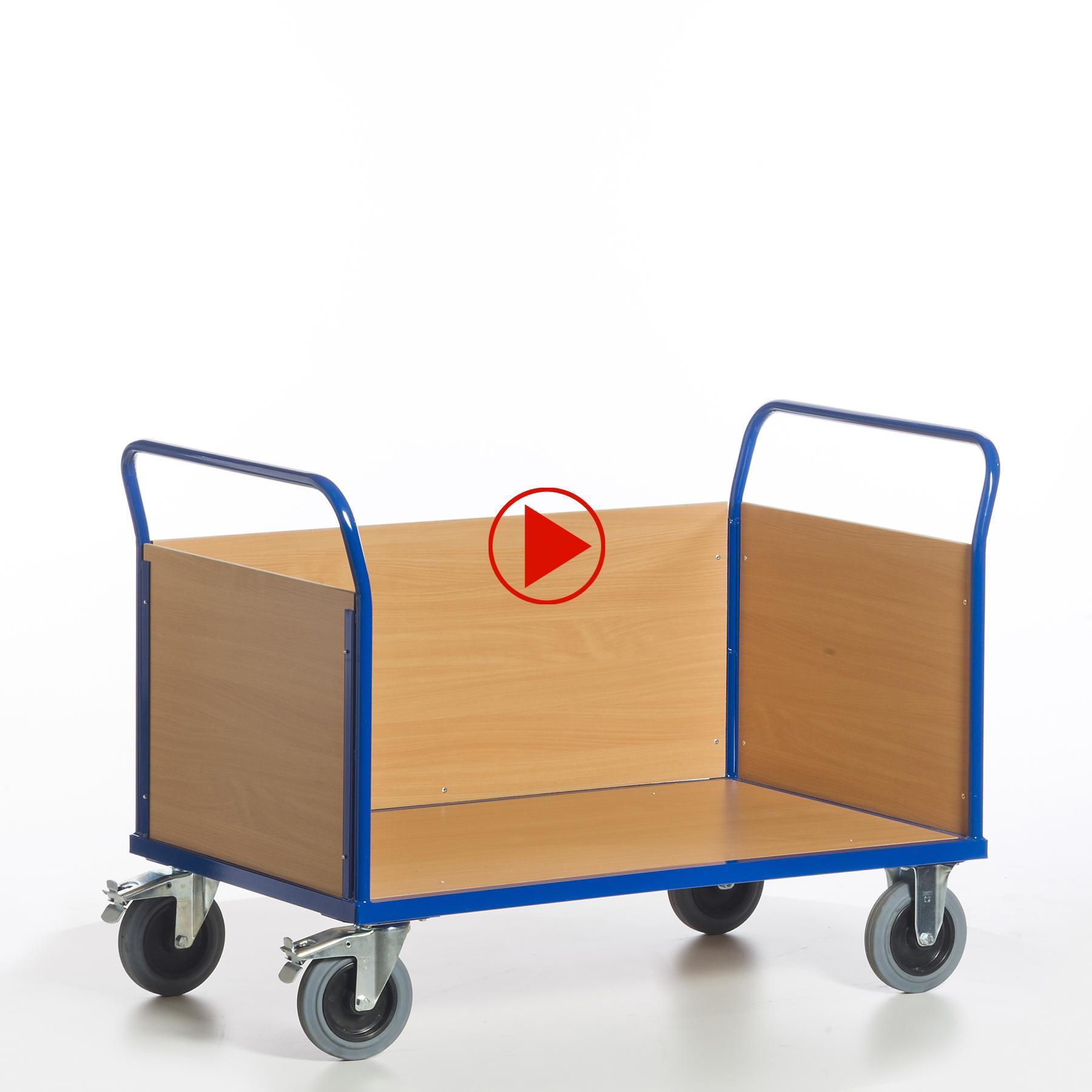 Dreiwandwagen aus unterschiedlichen Richtungen als Video dargestellt