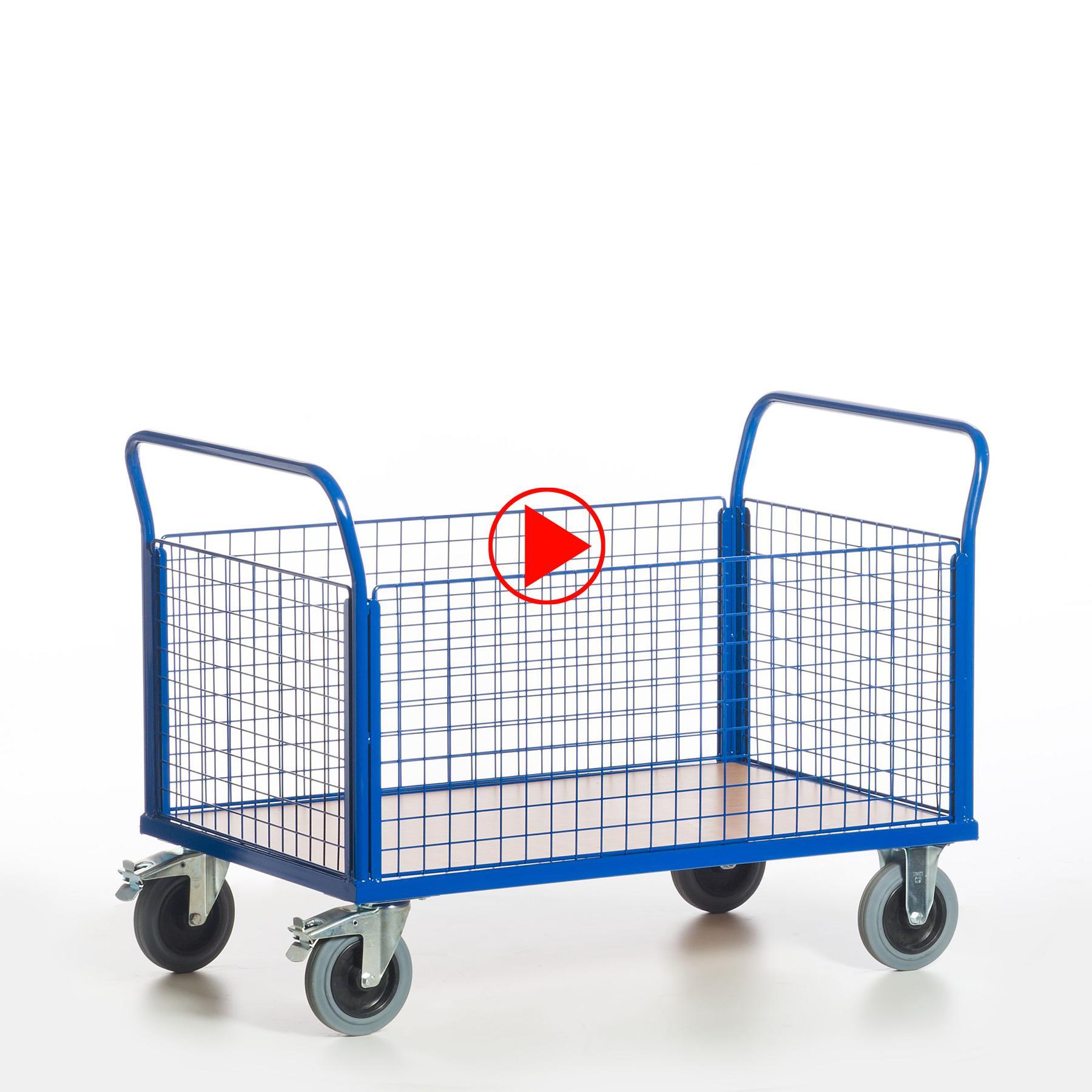 Videovorschaubilder für Gitter-Vierwandwagen