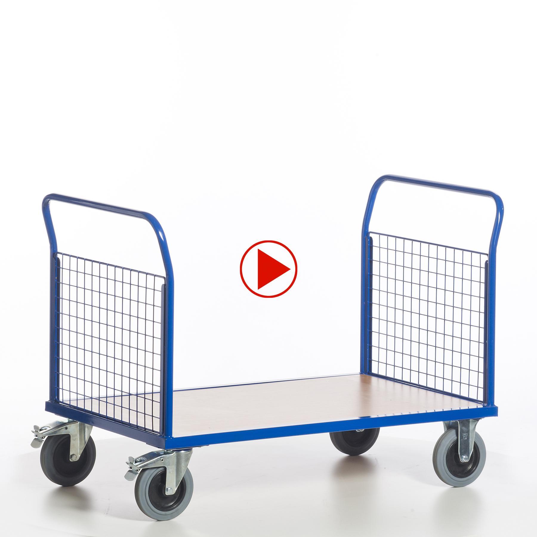 Videoansicht für Doppelstiernwandwagen mit Gitterwänden