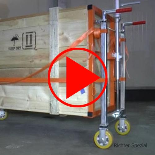 Video für den Hydraulikroller mit Anheben, Absenken, Lenkung, enges Verfahren durch gekoppelte Lenkstangen