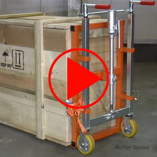 Schwerlast-Hubroller mit 100 mm Hubbereich