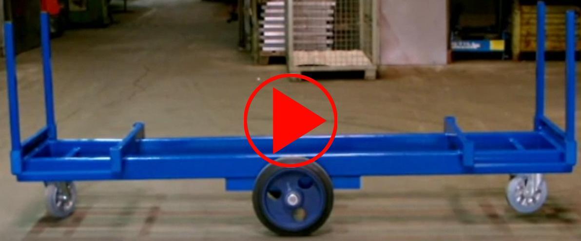 Video mit Handling des Langmaterialwagens wie Beladung, Lenken, Fahren etc.