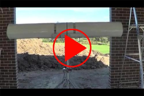 Demonstrationsvideo für den Elektrolifter, hier beim Einbau eines Garagentores