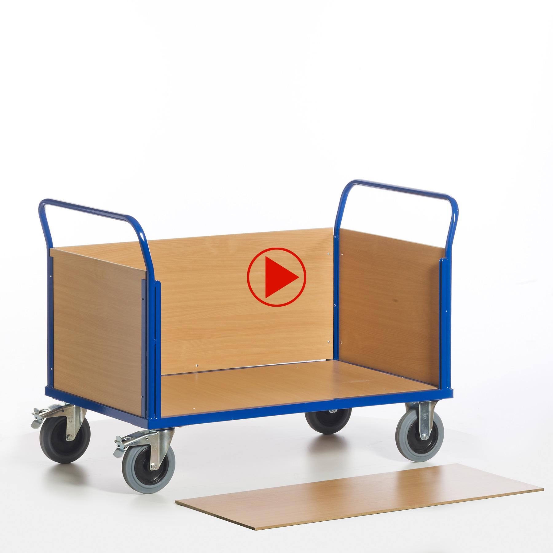 Videovorschau Transportwagen mit abnehmbarer Vorderwand