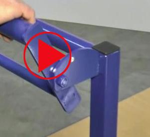 Video Schiebebügel-Wagen mit Totmannbremse in Funktion