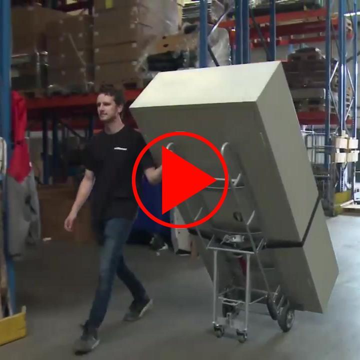 Handlings-Video für die Schwerlast-Transportkarre, erweiterbar per Steckschaufel auf 305 mm (*)