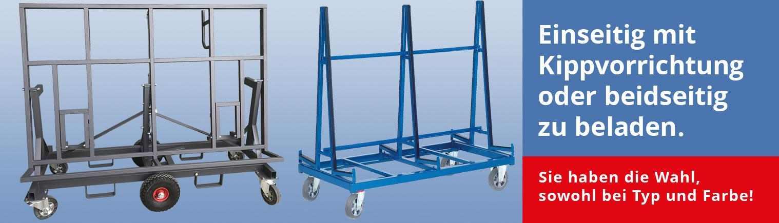 Plattenwagen für große, schwere Lasten, Gläser und mehr