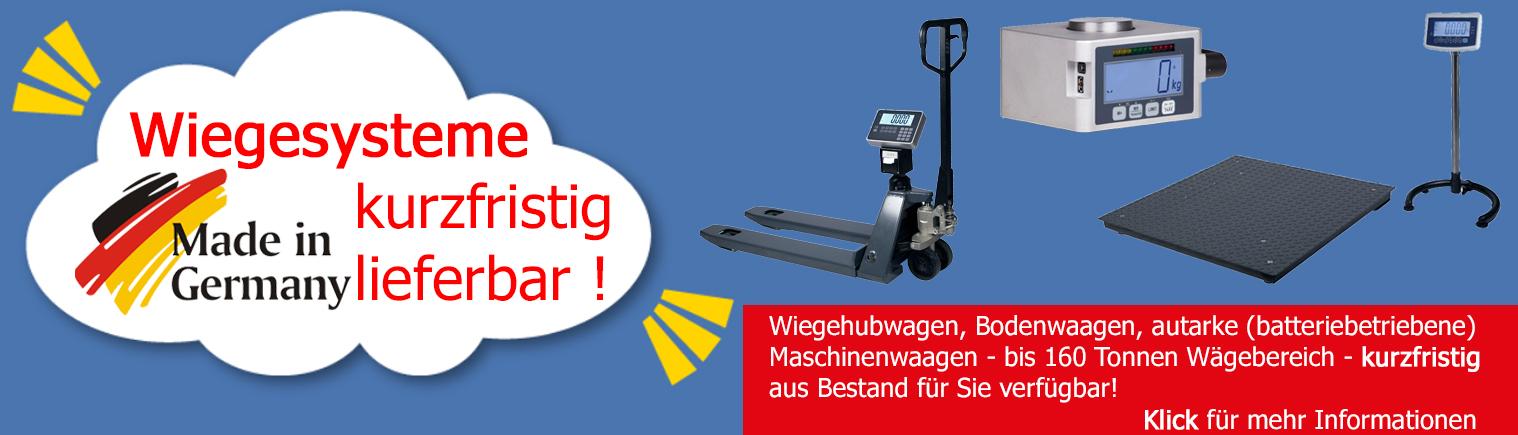 Industriewaagen aus deutscher Herstellung für Sie lieferbar.